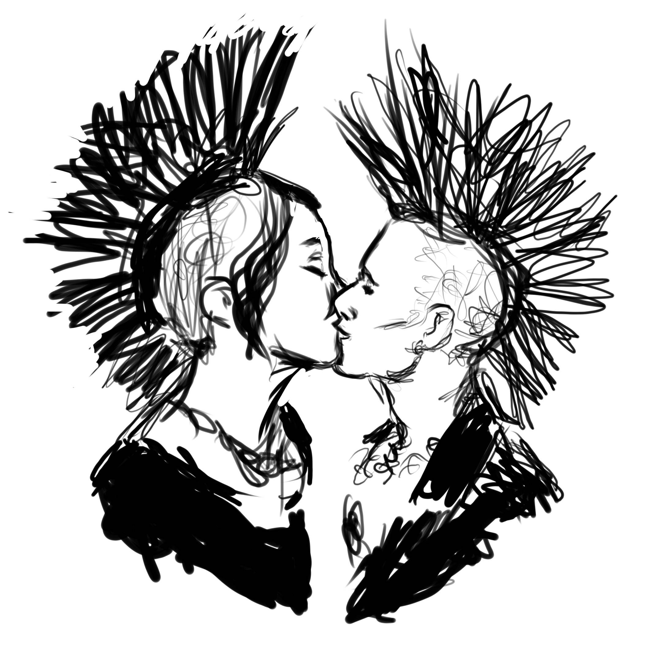 Punk Couple Sketch