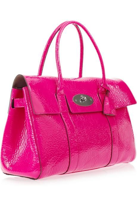 Mulberry Bayswater hot pink patent leather bag ~ love the color ...