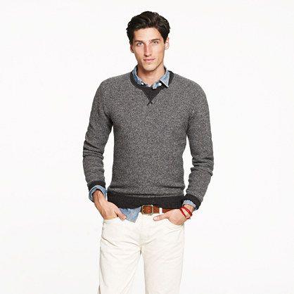 Lambswool sweatshirt        * Item 23737      * Size: MEDIUM      * Color: HTHR CARBON  $69.50