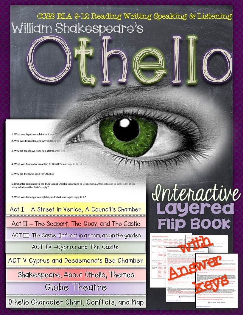 othello study guide answer key And ways to use the play as part of interdisciplinary study  than answer my naked wrath (iii  and compelling attraction of othello before reading this guide.