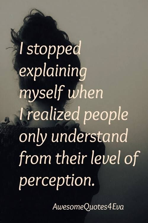 And That Perception Is Usually Self Serving Selfish Men If You