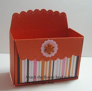 Scallop envelop box tutorial