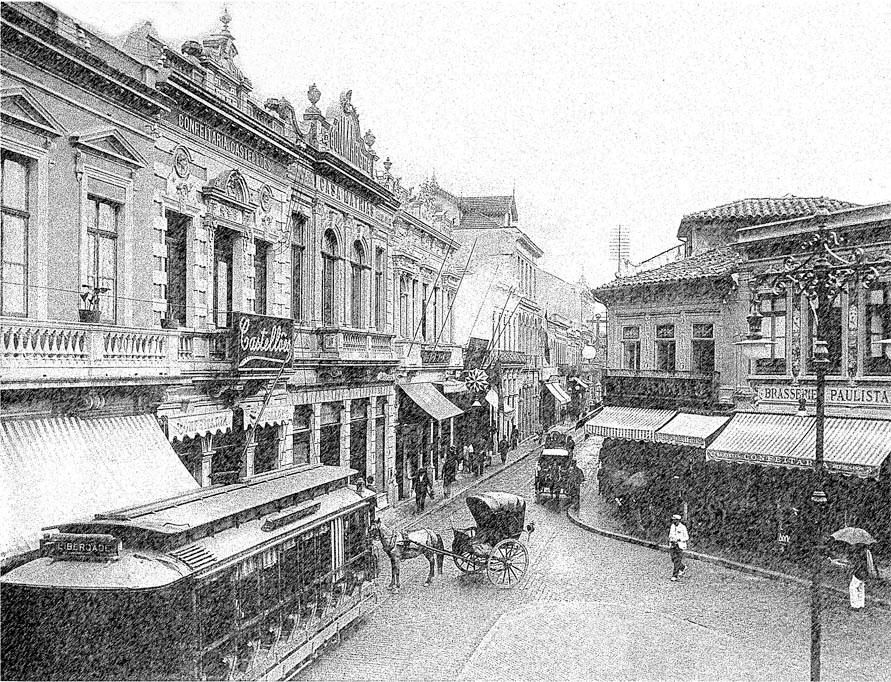 Largo do Rosário em 1903, atual Praça Antônio Prado.