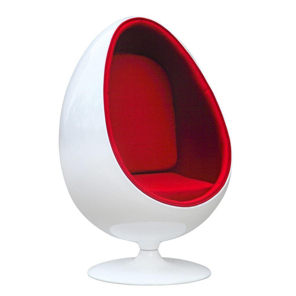 Arne Jacobsen Egg Style Chair Red  Arne Jacobsen