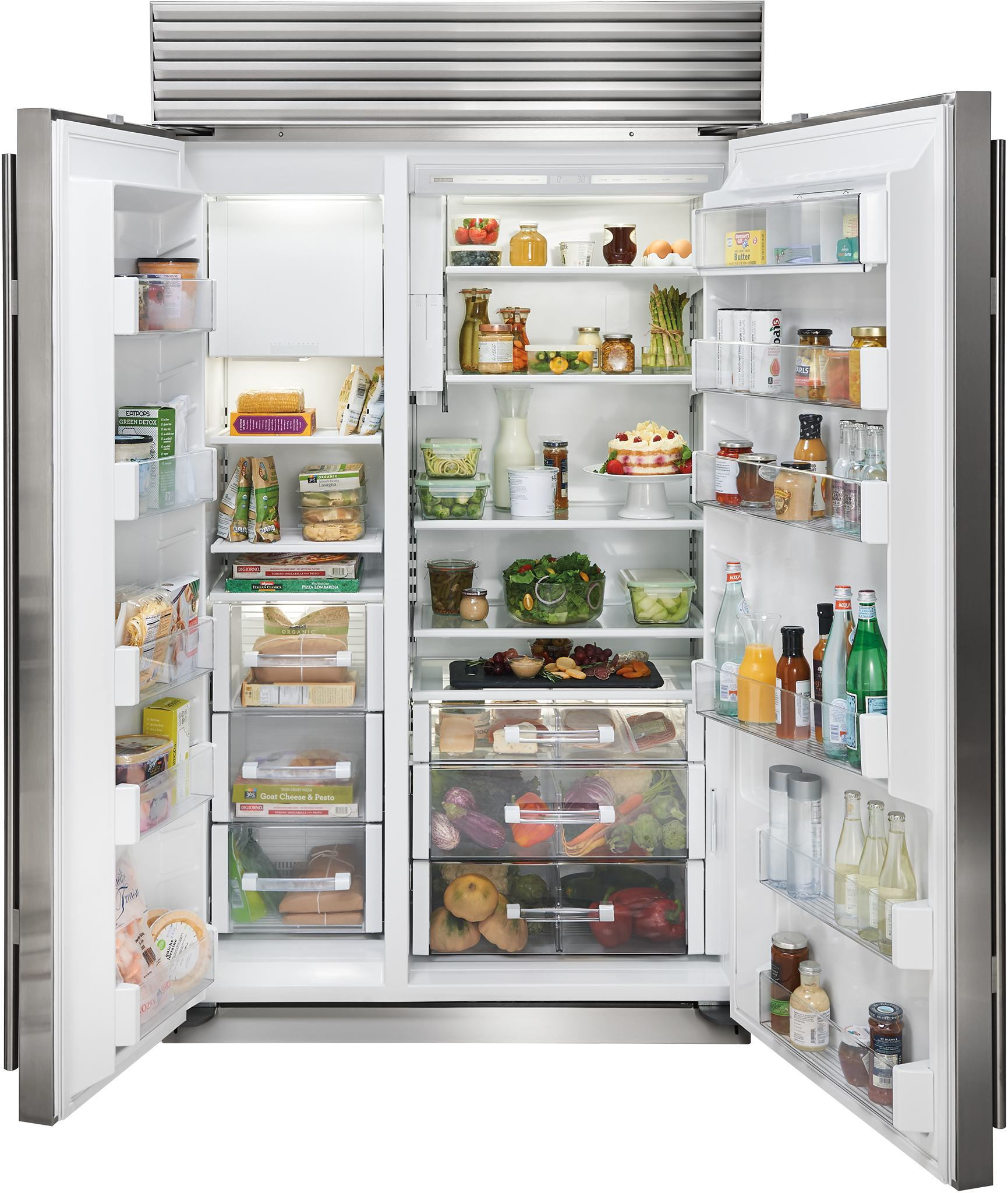 Sub Zero 48 Classic Side By Side Refrigerator Freezer With Internal Dispenser Panel Ready Bi 48sid O Side By Side Refrigerator Refrigerator Freezer Refrigerator
