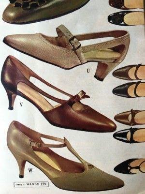 516e4a3e25e 1964 Strappy Dancing Shoes. 1960s heels pumps shoes.