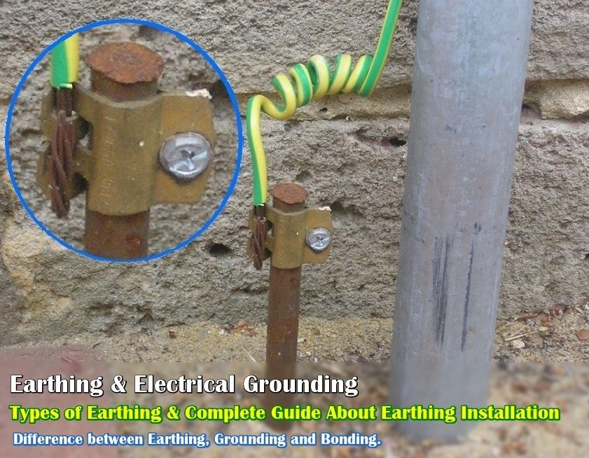 Electrical Earthing - Methods and Types of Earthing ... on residual-current device, circuit breaker, power factor, three-phase electric power, electrical wiring, electric power transmission, electrical bonding, electrical conduit, electricity distribution, national electrical code, distribution board, power cable, ground and neutral, lightning rod, alternating current, short circuit, earth leakage circuit breaker, electric shock,