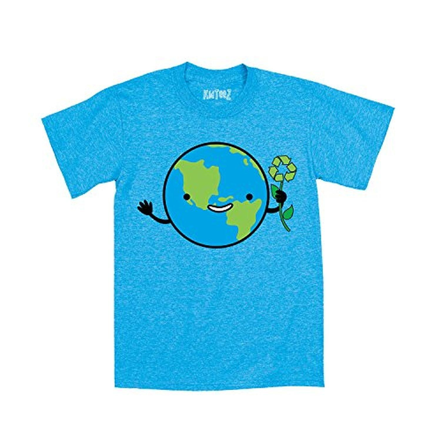 Smiling Kawaii Earth With Recycle Symbol Celebrate Earth Day Novelty