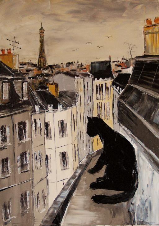 Black le chat, Peinture de JIEL
