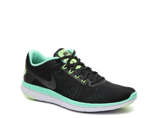 d9542a69fa1c Women s Nike Flex 2016 RN Lightweight Running Shoe - - Black Green Turquoise
