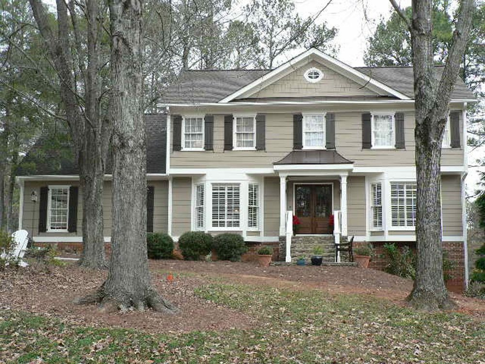 This is a great exterior love the double front doors for Double front porch house plans