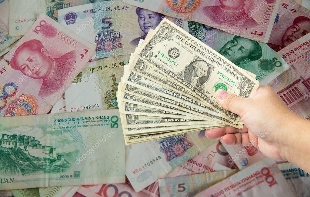 Dollar Bill Chinese Yuan Banknote Usa War China Business Economy Stock Sponsored Yuan Banknote Chinese Dollar Ad In 2020 Dollar Bill Dollar Bank Notes