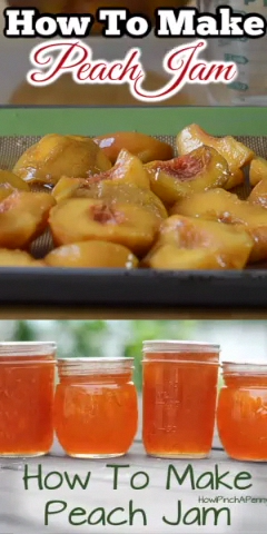 Here are easy instructions on how to make peach jam as well as how to water bath can peach jam. Watch the video instructions on how to make homemade peach jam and you will have a delicious way to enjoy summer fresh peaches all year long.