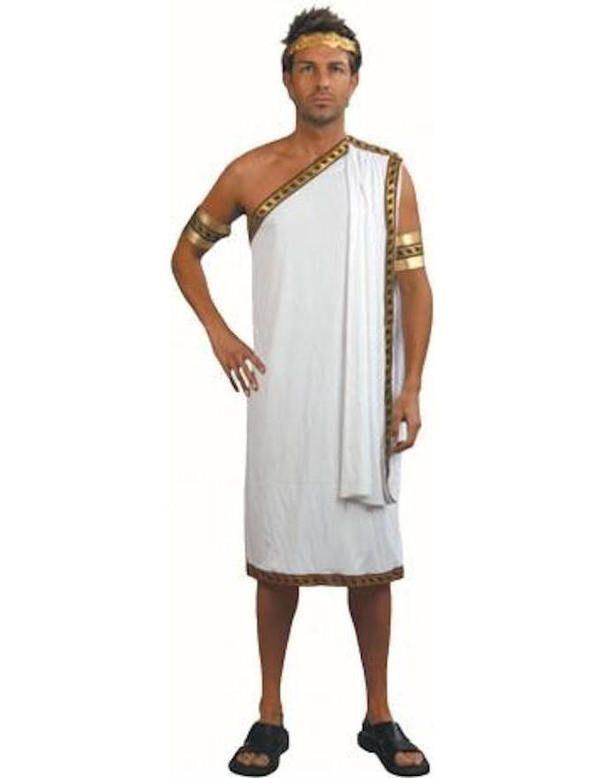 Adult Caesar Toga Greek Roman Fancy Dress Costume Outfit Goddess Grecian Julius