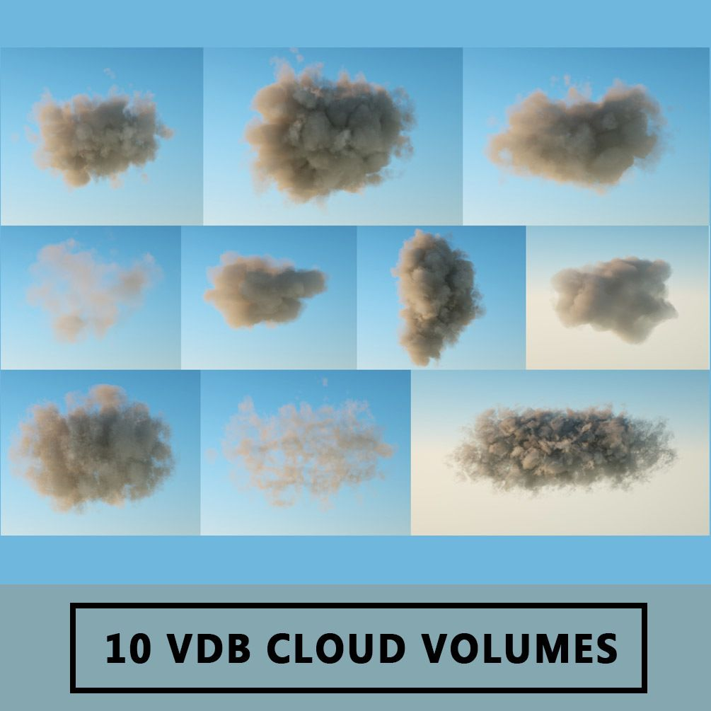 10 VDB Cloud Volumes in 2019 | VFX reference | Clouds, 3d clouds