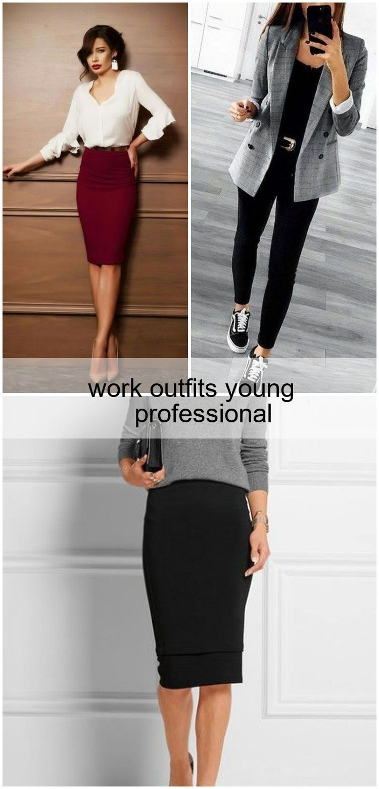 work outfits young professional #WORKOUTFITS , #outfits #professional #Work #wo...