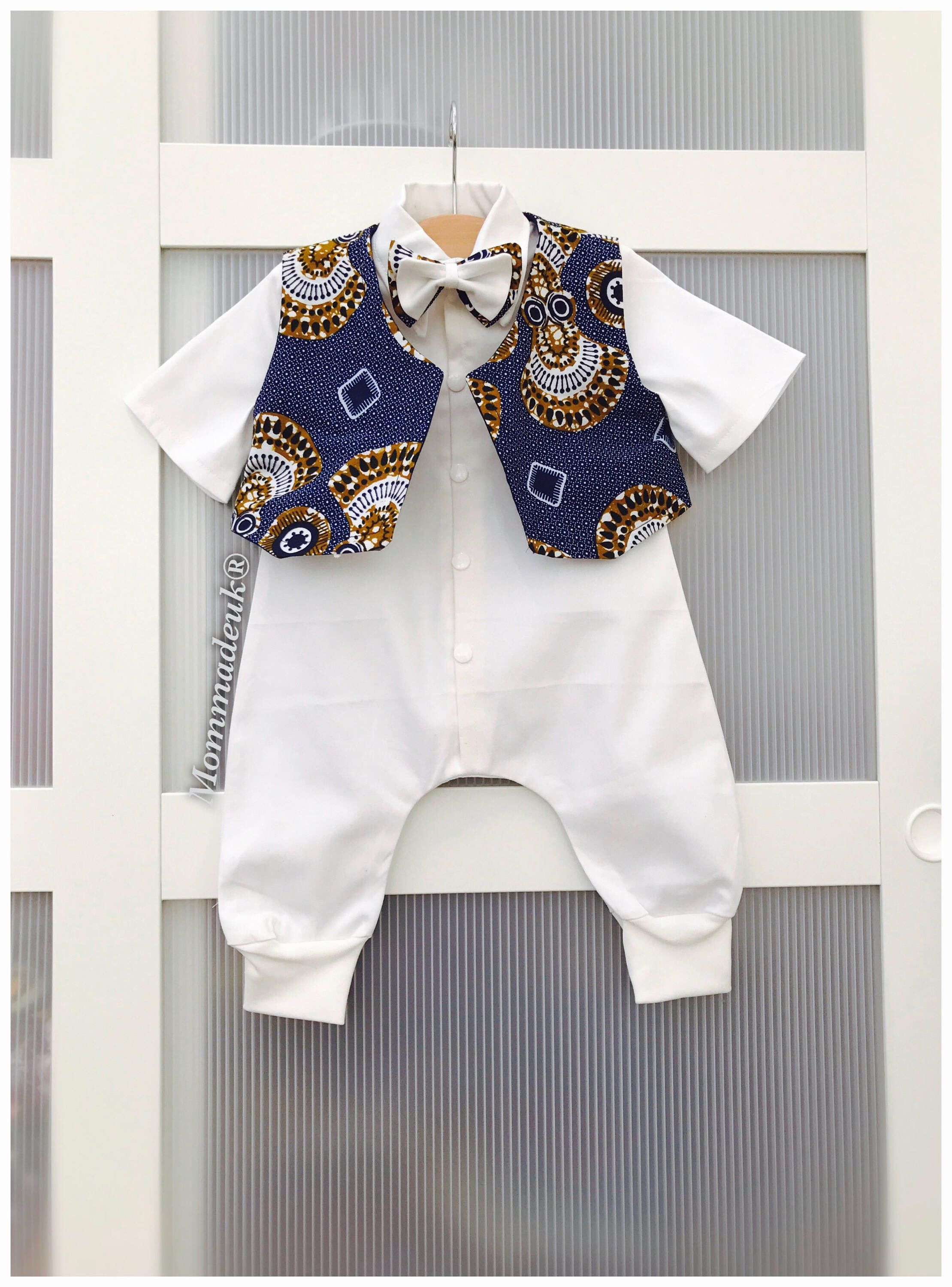 78cd6e9d754f Ankara christening style for boys African wax print for boys ...