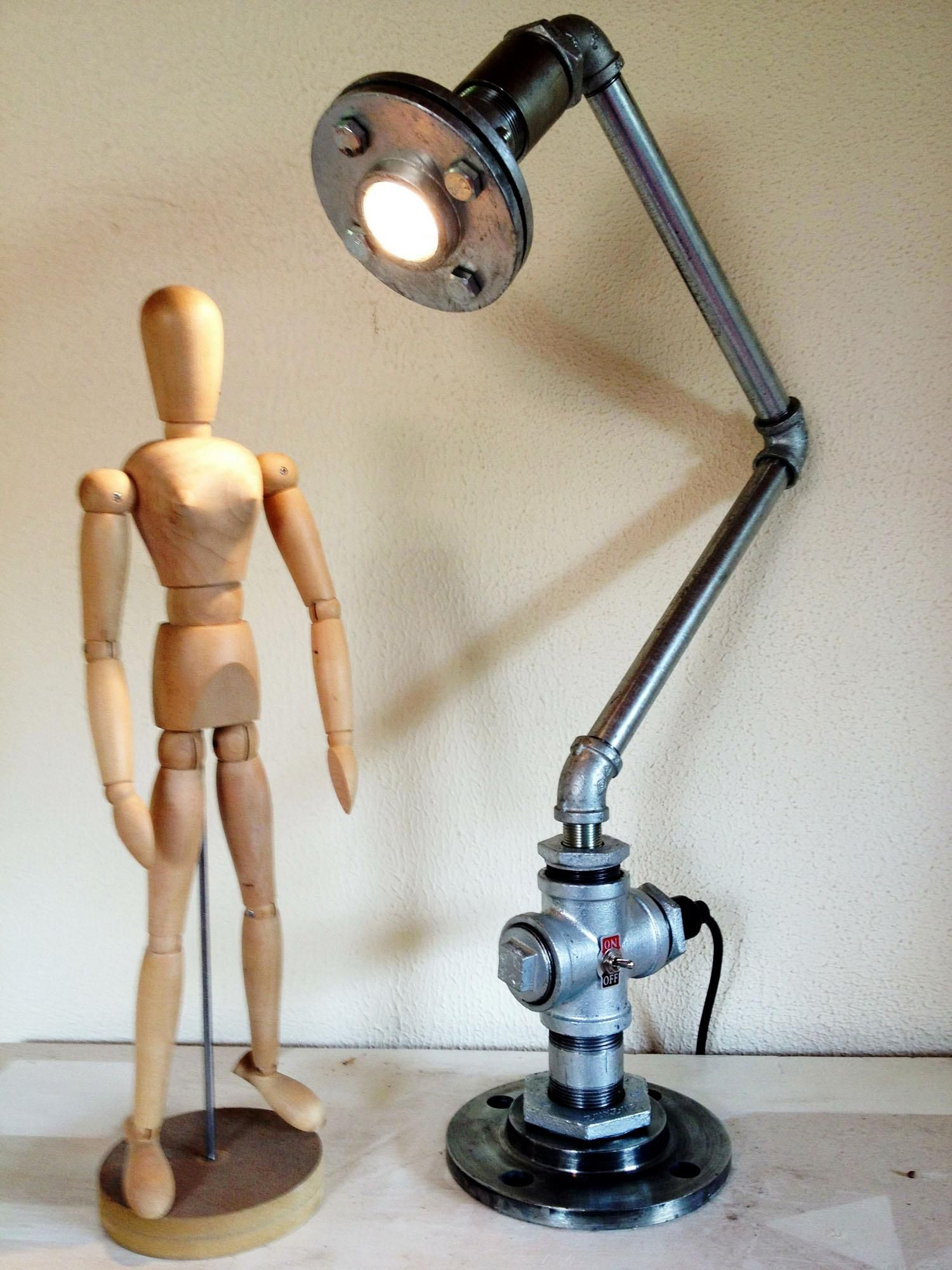 Cool Industrial Lamps Cool Industrial And Chic Pipe Lamps From Pipe Dreams In