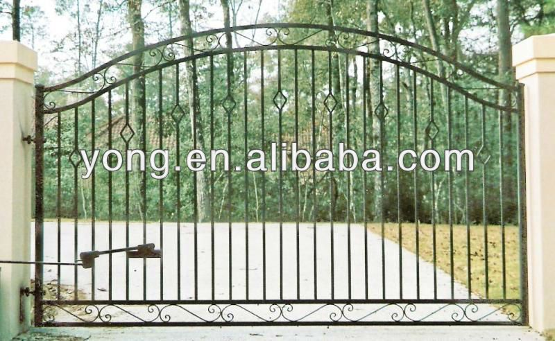 Simple Design House Wrought Iron Fancy Gates View Wrought