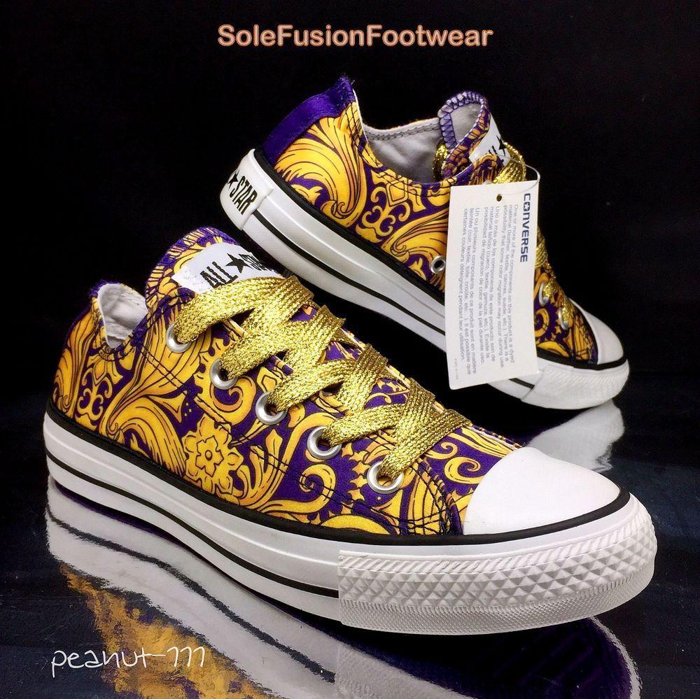 11d93e3ed946 Converse All Star Womens Trainers Gold sz 4 Baroque Glitter Sneaker US 6 EU  36.5