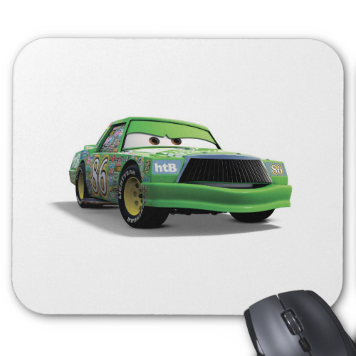 Chick Hicks Green Race Car Disney Mousepad