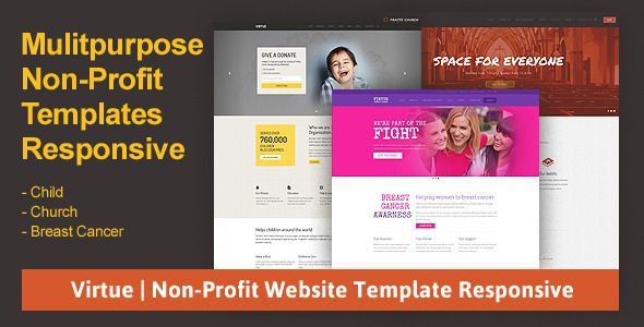 Virtue Non-Profit Website Template Responsive  Virtue is - profit template