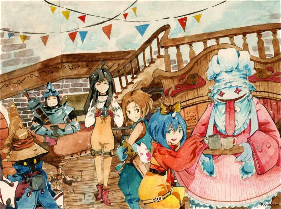 Final Fantasy 9 by Karinka-san.deviantart.com on @deviantART ~ I was so upset when my memory card refused to safe FFIX. :'(