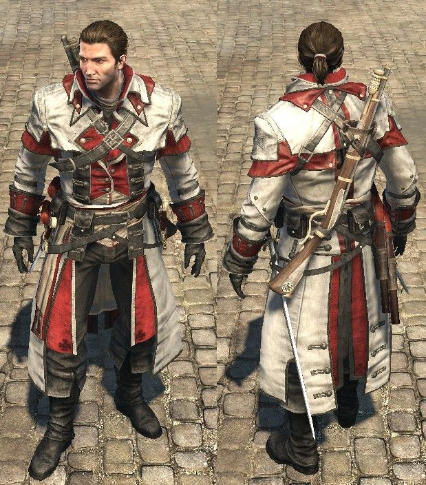 Shay Outfits That Man Disgraces Assassin White Assassins Creed Rogue Assassins Creed Assassins Creed Artwork