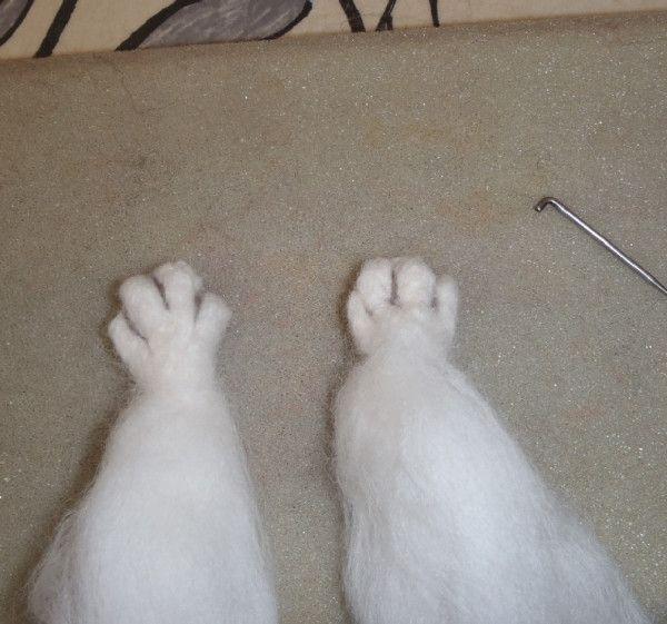 How to Needle Felt Paws!