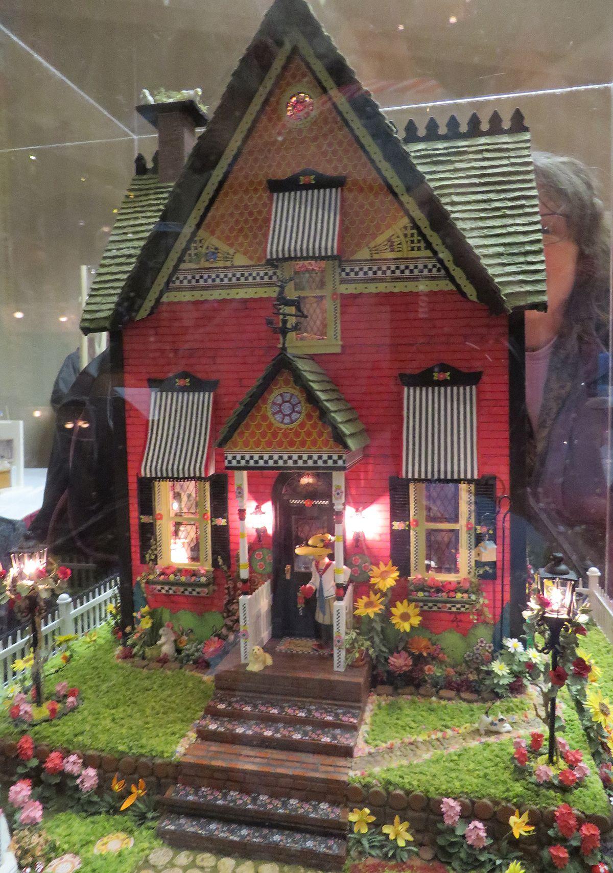 diy miniature dollhouse kit elegant spring garden