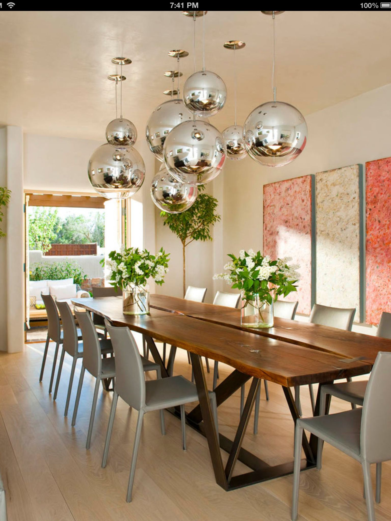 Ball Lights Diningroom Tables Chairs Chandeliers Pendant