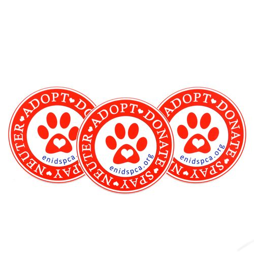 Enid SPCA Custom Circle Stickers