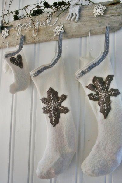☆ White Christmas Wonderland ☆   Christmas stocking by VIBEKE DESIGN