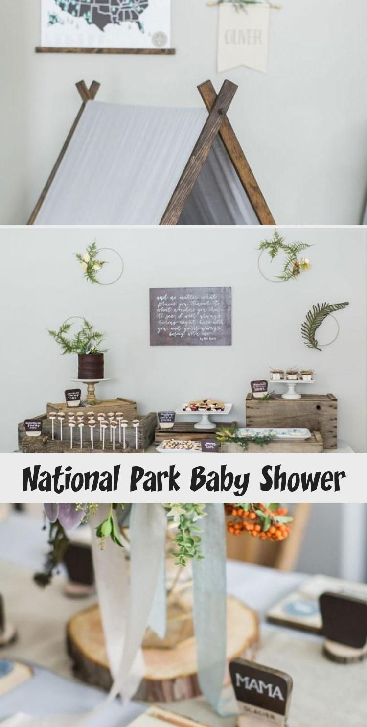 National Park Baby Shower in 2020 (With images) Baby
