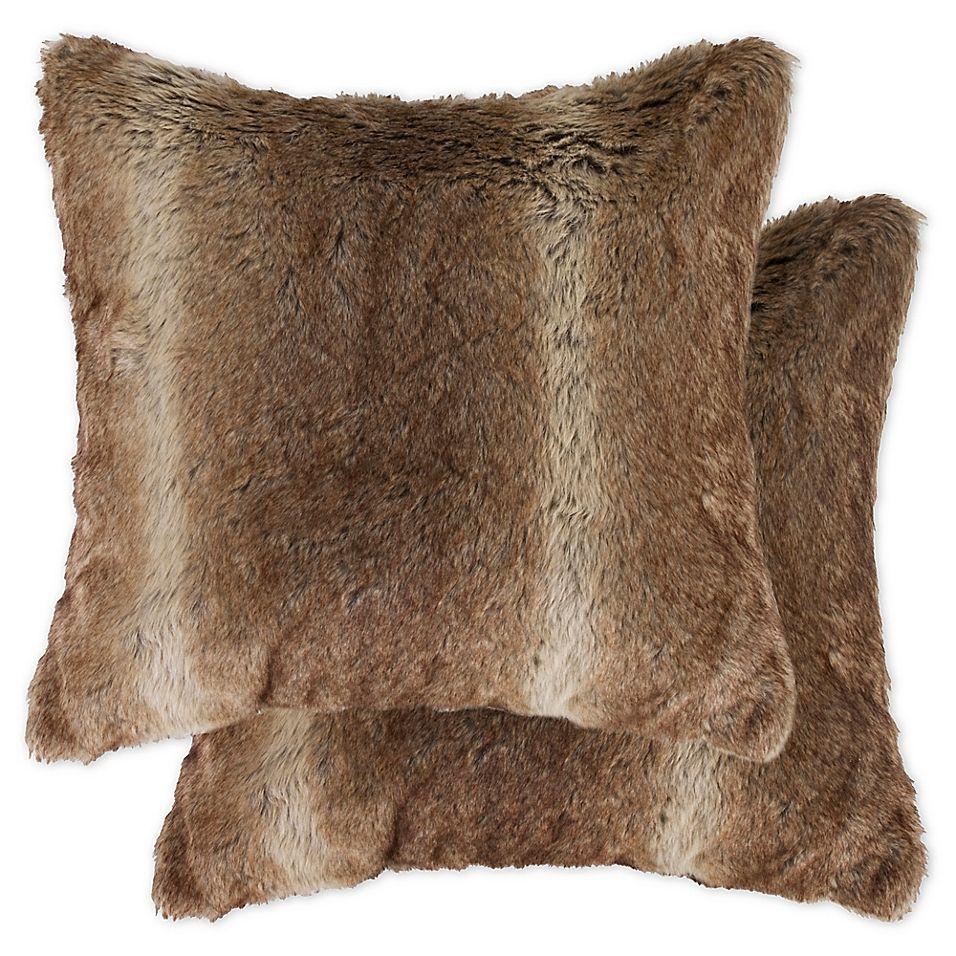 Faux Fur Rabbit Throw Pillows In Taupe Set Of 2 Faux Fur Throw Pillow Fur Throw Pillows Faux Fur Pillow [ 956 x 956 Pixel ]