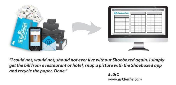 Shoeboxed Receipt Tracker, great small business app App
