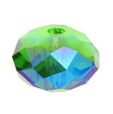 Rondelle aplatie en cristal de Bohème chez Pearlyperles !