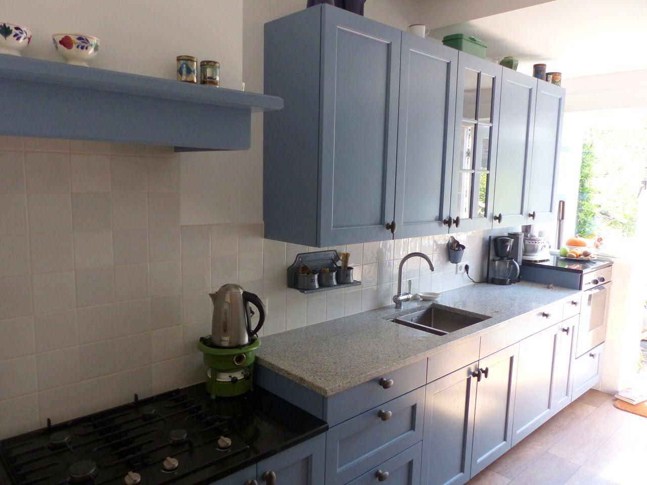 Landelijk blauwe keuken landelijke keukens pinterest keuken en keukens - Idee deco keuken grijs ...
