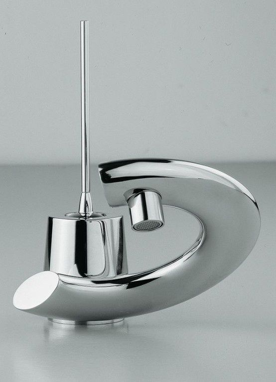 Modern Bathroom Faucets With Curved Levers Embrace Lacava