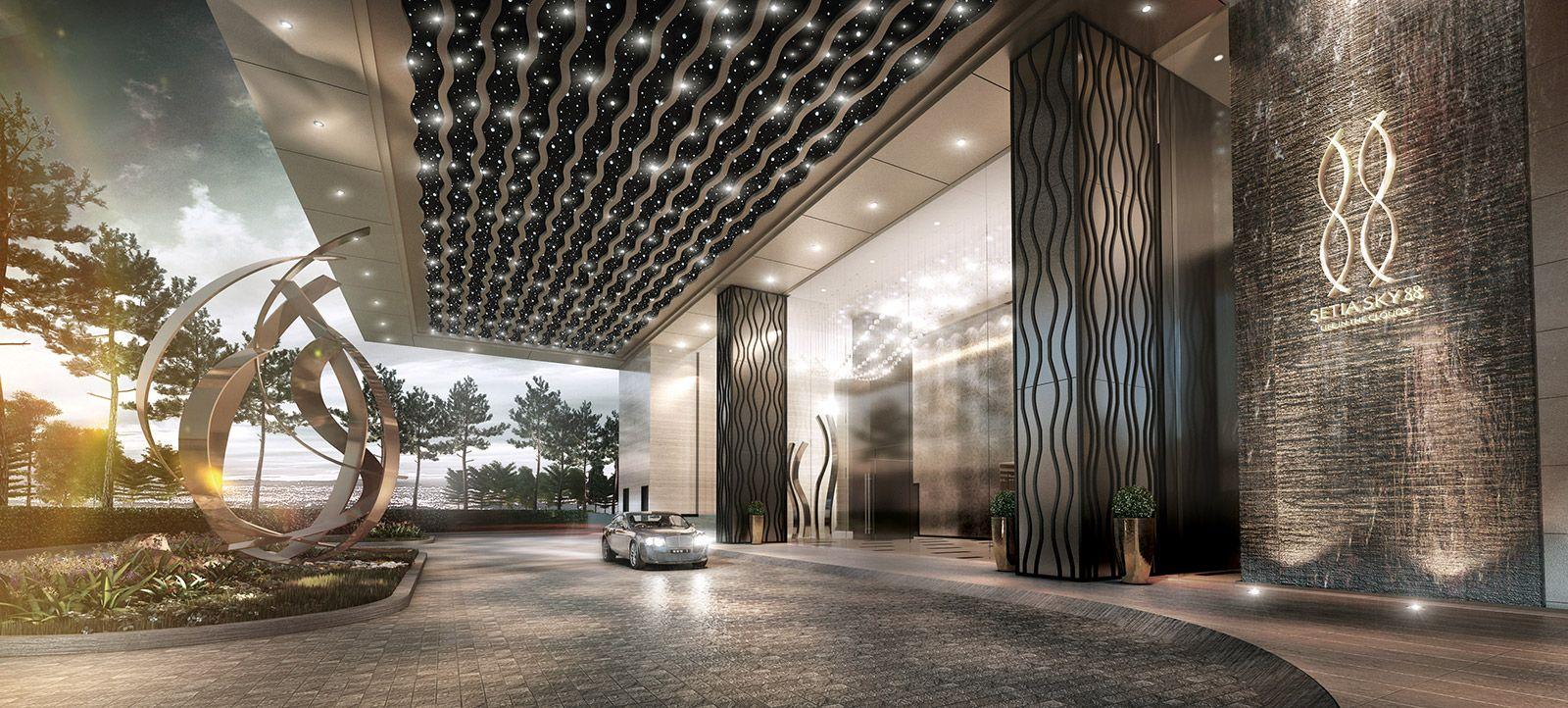 Setia sky 88 iskandar malaysia city centre u c for Hotel entrance decor