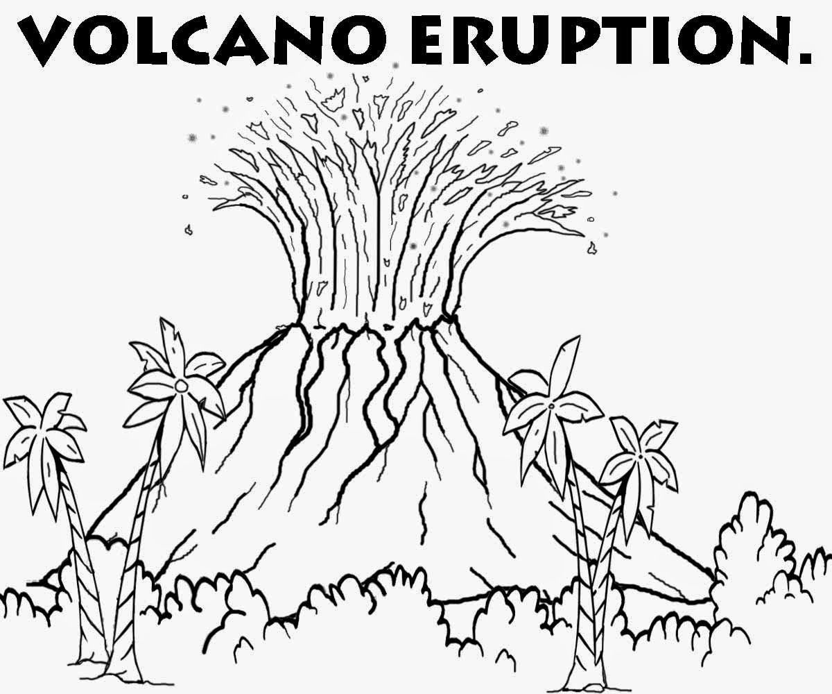 Pin By Judit Orosz On Preschool Camp Volcanoes Volcano Drawing Dinosaur Coloring Coloring Pictures