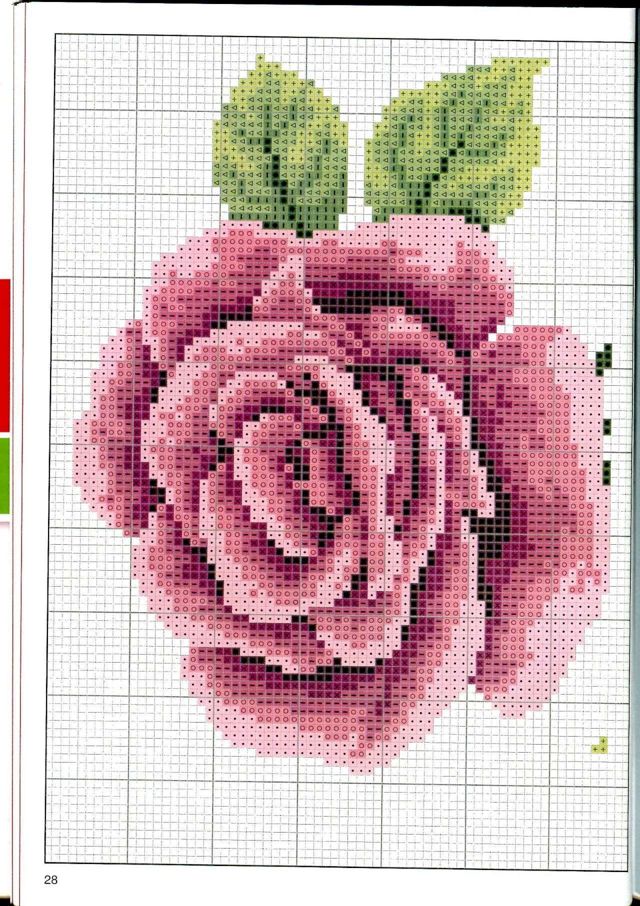 3 Part 1 Cross Stitch Roses Pinterest And Rose Flower Diagram Crochet Flowers 4 Charts