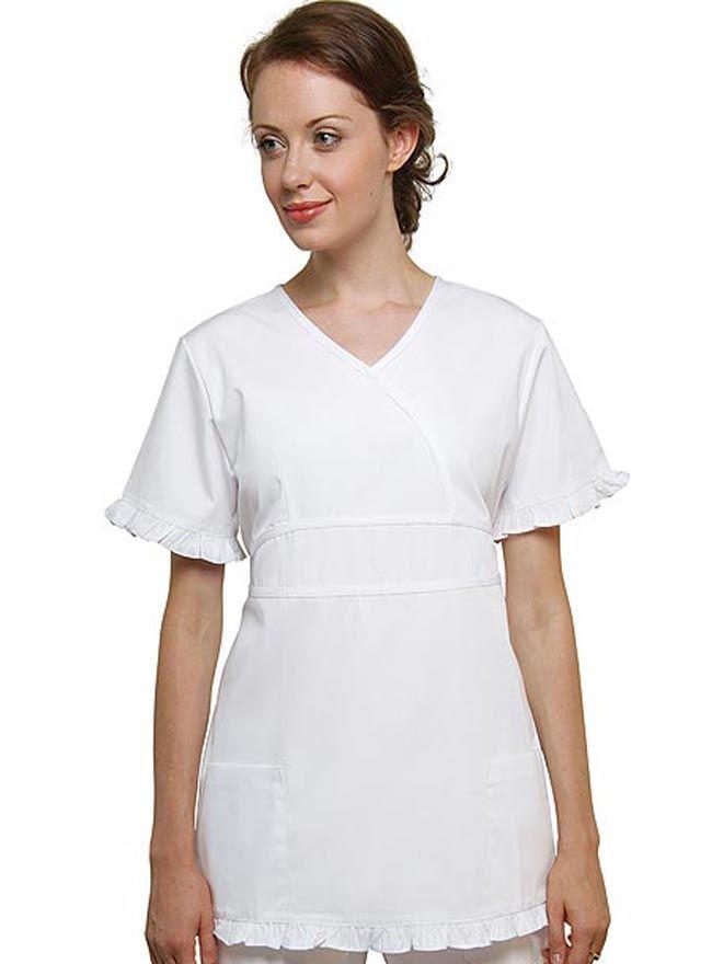 3621b097de1 Adar Women Two Pockets Baby Doll Scrub Uniforms   Work   Scrubs ...