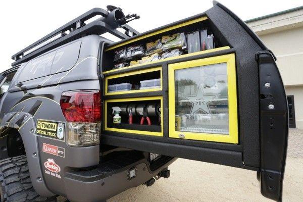 A Truck Custom Built For Fishermen Truck Bed Slide Truck Bed Storage Truck Bed