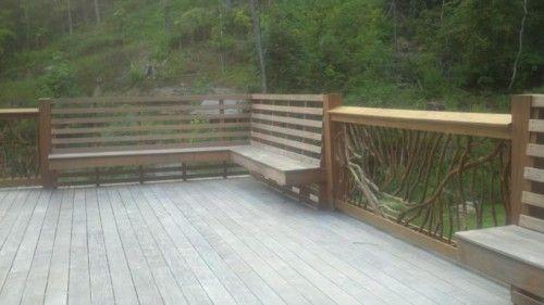 Rustic mountain handrail