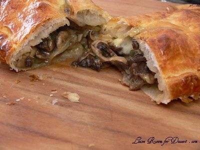 Mushroom & Cheese Strudel - looks delicious! : )