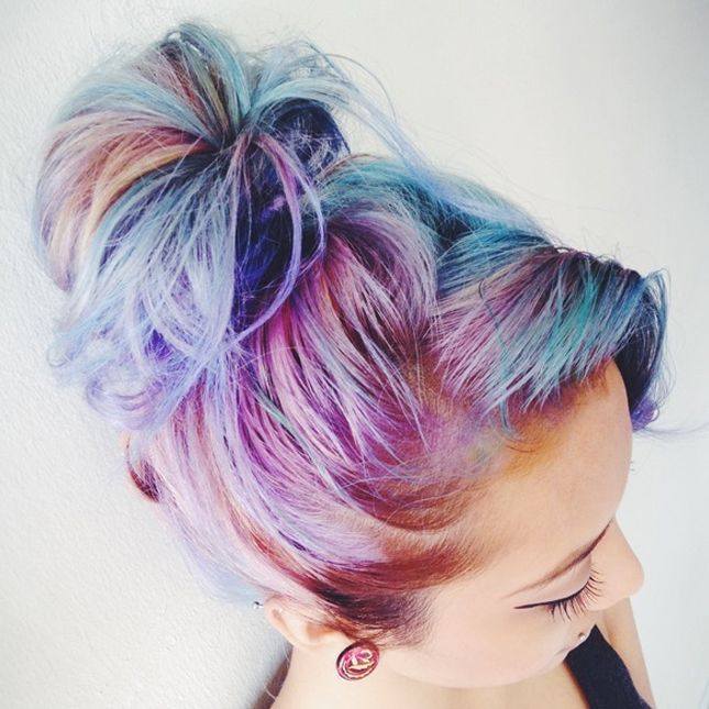 Get creative with your hair with this cotton candy color hairstyle get creative with your hair with this cotton candy color hairstyle pmusecretfo Images