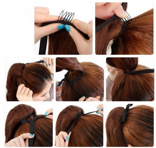 Amazon Com Tanya 20 High Ponytail Clip In Human Hair Extension 6