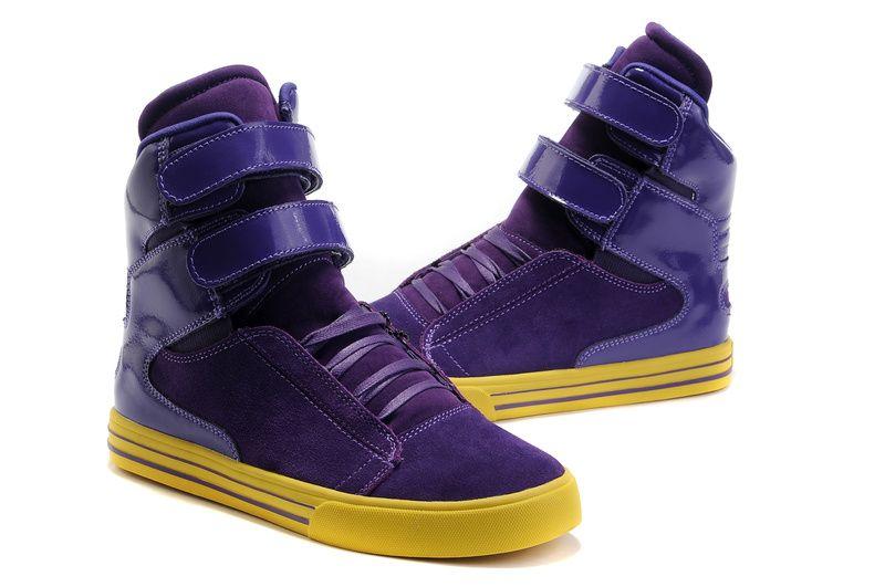 2c827dd43d07 Womens Supra TK Society Purple Neon Yellow