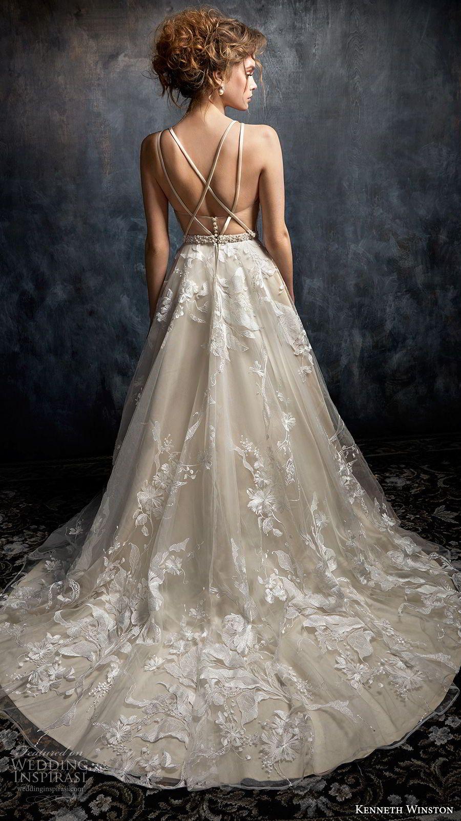 kenneth winston fall 2017 bridal sleeveless deep